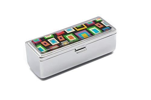 Boxed Travel Lipstick Case With Mirror (Retro Square -