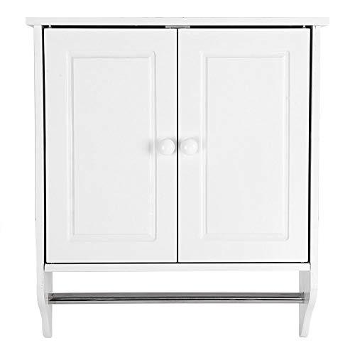 Estantería Armario Baño mueble armario perchero de pared de madera estante porta toallas ropa armario baño cocina colada: Amazon.es: Bricolaje y ...