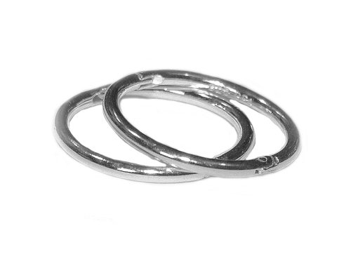 14mm HINGED HOOP EARRINGS in SOLID .925 STERLING SILVER, EASY ON AND OFF STYLE!