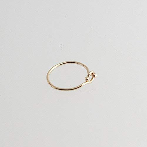 Whisper Helix Piercing, Cartilage Hoop Ring, Gold Ear Hugger Hoops, Ear Hugging Hoops, Dainty Tiny Hoops, GF-CL-R-D8MM-24GA by Fashion Art Jewelry