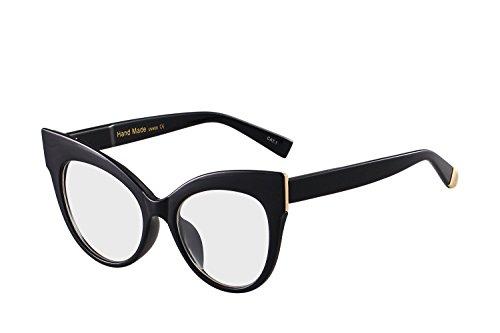 Oversized Cat Eye Frame UV400 Womens Sunglasses , Black Fashion Trend Eyewear - Clear Sunglasses Trend