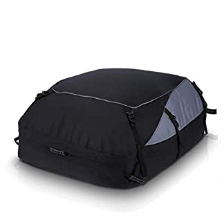 MANGGUO 350L Car Roof Bag,Folding Roof Top Box Storage Bag Waterproof Roofing Rack Bag,Waterproof Rooftop Cargo Carrier… 5