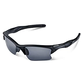 Duduma Polarized Sports Sunglasses for Men Women Baseball Fishing Golf Running Cycling Driving Softball Hiking Floating Unbreakable Shades Tr566