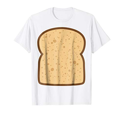 Mens Sliced Bread Toast Matching Shirts DIY Halloween Costume Medium White -