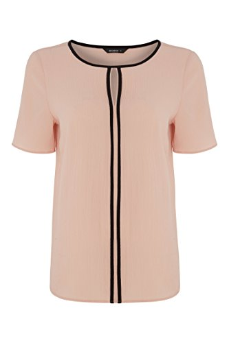 Casual Uni Simple Rond Originals Roman Courtes Confortable Soire T Light Femme Contraste Decontract Shirt Pink Manches Col SvUU4Y6qw