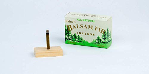 40 Balsam Sticks and Holder - Paine's Fir Balsam Incense - incensecentral.us