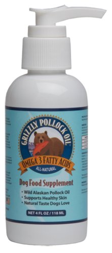 Grizzly Pollock Oil Supplement for Dogs, 4-Ounce