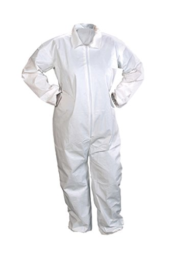 Alpha Protech Coverall - Alpha Pro Tech Critical Cover CV-J4022-7 ComforTech Coveralls, Elastic Wrist and Ankle, Serged Seams, White, 4X Size (Case of 25)