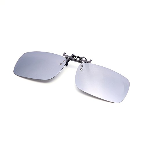 Clip On Flip Up Polarized Sunglasses by AUUS Frameless Rectangle Lens - Any You Prescription Lenses In Put Frames Can