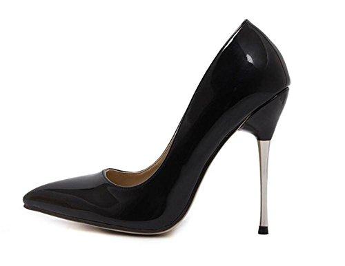 LDMB Pointure Toe Court Chaussures Minces Avec Talons Basse Pour Aider Chaussures Simple , black , 37