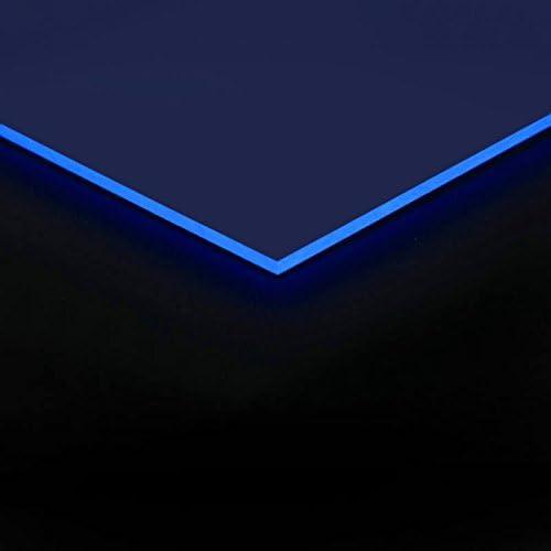 3mm Acrylglas Platte 100x50 cm blau fluoreszierend