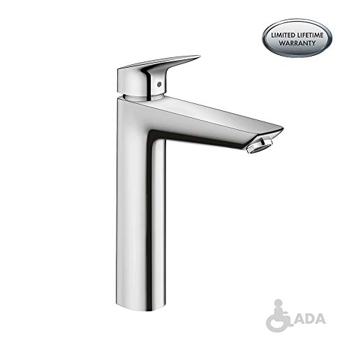 hansgrohe Logis  Modern 1-Handle  10-inch Tall Bathroom Sink Faucet in Chrome, (Best Hansgrohe Bathroom Sinks)