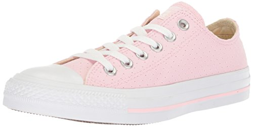 Converse Women's Chuck Taylor All Star Perforated Canvas Low Top Sneaker, Cherry Blossom/White/White, 9.5 M - Converse Shoes Canvas