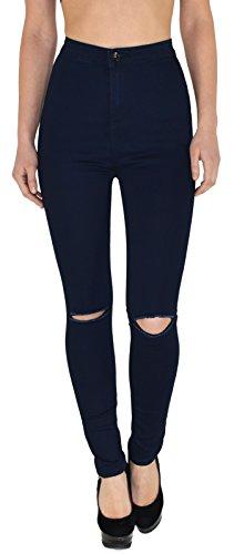 genou J184 surdimensionner pantalon Jeans Jean dchir femmes femme jean J186 femme slim en skinny PRBWq7WI