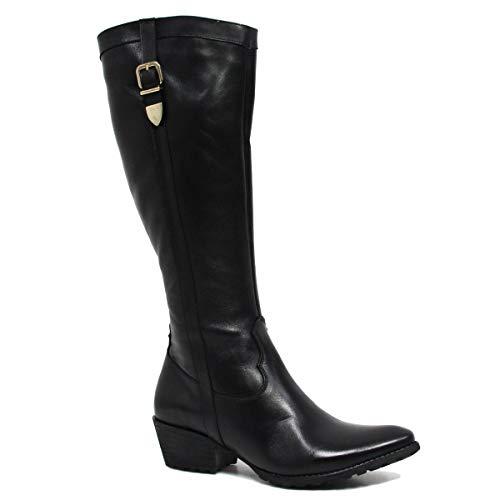 Bota Zariff Shoes Montaria Em Couro Fivela