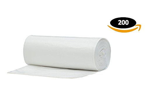 [4 Gallon Clear Garbage Bags, 200 Counts] (Cloth Diaper Basic Package)
