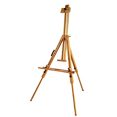 EASELQI Art Easel Multi-Function Triangle Enamel Wooden Easel Wooden Advertising Display Stand Folding Outdoor Sketch Drawing Convenient
