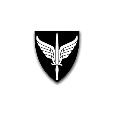 FSK Forsvarets Special item Insignia Norwegian Forces Unit Wingsword Coat of Arms Military Badge Emblem for Audi A3 BMW 3 VW Golf GTI Mercedes (7x6cm) - Sticker Wall Decoration