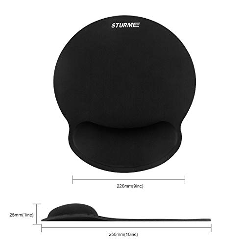 STURME Mouse Pad with Wrist Support Non-Slip Base Ergonomic Silicone Wrist Rest Use for Laptop, Home, Office Photo #2