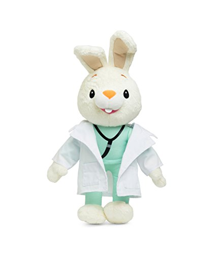 BUNNY OF THE YEAR - Baby First TV - Doctor Harry the Bunny Soft Plush Toy - Baby Shower Gifts - Lovie Security Blanket - Toddler Toys - Baby Gift - Baby Toys for Girls - PERFECT BIRTHDAY (Baby First Tv Characters)