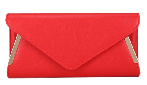 Handbags Party Girly Red Sides Evening Leather Bag Clutch Faux Summer Elegant Colours Ladies Frame Prom Aq81dTqw