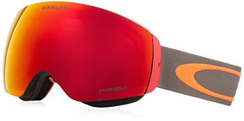 Oakley Flight Deck Snow Goggle, Dark Brush Orange, Medium