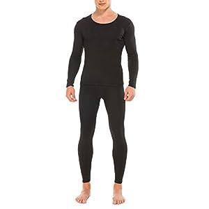 M-anxiu Men's Long Johns Set Fleece Lined Thermal Underwear Winter Base Layering S-XXL