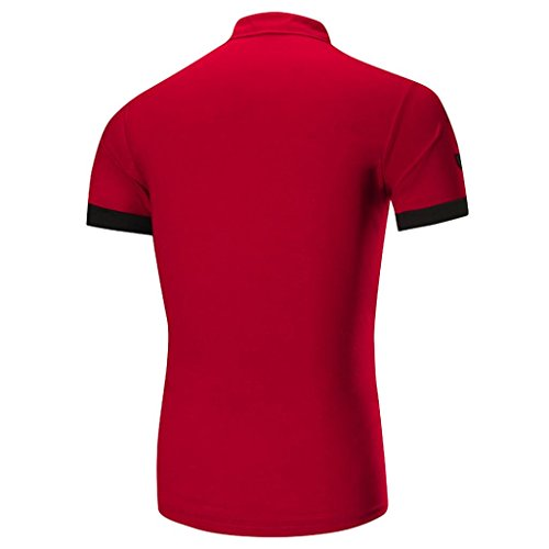Abbigliamento Uomo Rosso Uomini Oyeden Estate Corta Di T shirt Maglietta Calde La Tees Top Della Moda Casual Manica Shirt Slim Per Gli P5qv51
