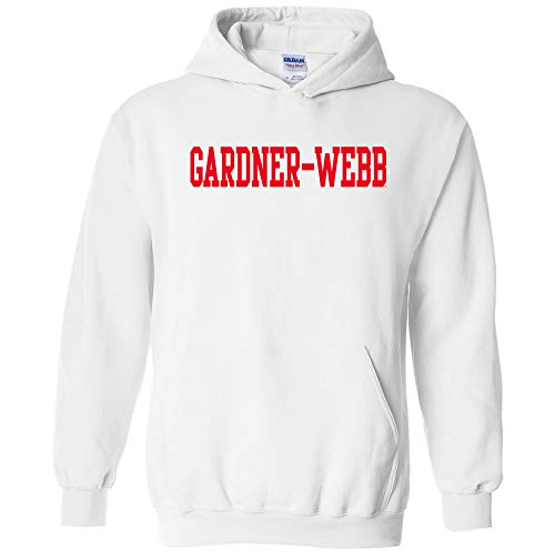 AH01 - Gardner-Webb Bulldogs Basic Block Hoodie - Small - White