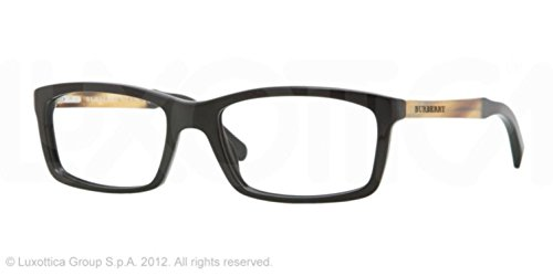 Burberry BE 2117 3332 BLACK and LIGHT BROWN Eyeglasses BE2117 - 55mm