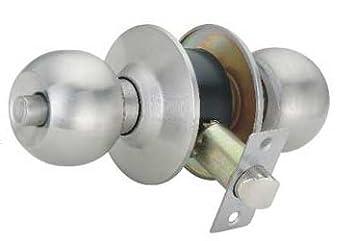 Bedroom Lock. Spider Cylindrical Entrance Latch Key less  Bathroom Bedroom Lock CL01SS BK
