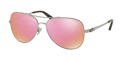 Coach Womens Sunglasses Gunmetal/Pink Metal - Non-Polarized - - Pink Coach Glasses