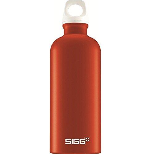 Sigg Elements Metal Water Bottle, Orange/Red