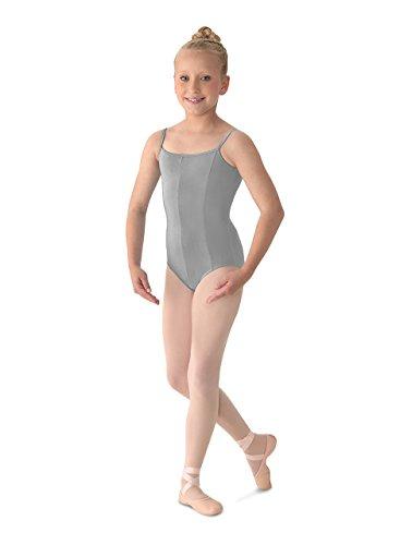 Mirella Girl's Princess Seam Camisole Dance Leotard, Grey, 14