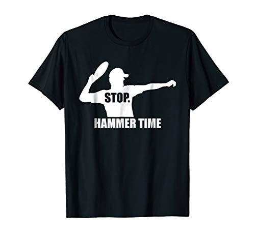 - Mens Stop. Hammer Time - Ultimate Frisbee T-shirt - TeeJunkee 2XL Black