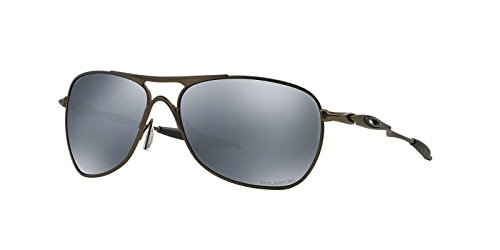 Oakley Mens Crosshair Sunglasses (OO6014) Gunmetal/Grey Titanium - Polarized - - Crosshair Polarized