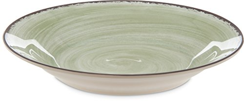 Carlisle 5400346 Mingle Melamine Rimmed Soup Bowl, 28.5 oz, Jade