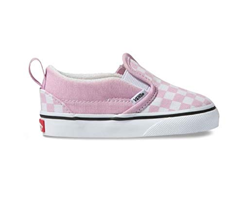 Vans Toddler T Slip ON Checkerboard Lilac Snow True White Size 10 ()