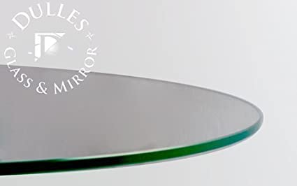 Glass Table Top 33 Round 1 4 Thick Flat Polish Edge Tempered Glass By Dulles Glass And Mirror Amazon Co Uk Kitchen Home