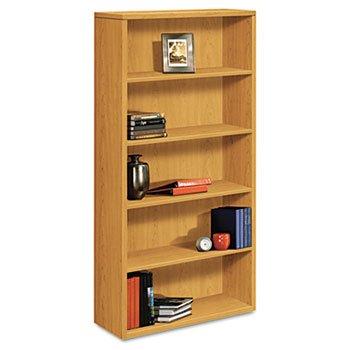 (Reg 10500 Series Laminate Bookcase, Five-Shelf, 36w x 13-1/8d x 71h, Harvest)