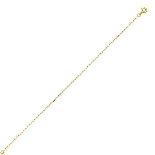 DIAMANTLY Collier or 750 forcat clair diamante 1,3 mm - 45 cm
