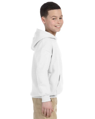 Gildan Youth Heavy Blend  Hooded Sweatshirt (White) (Gildan Kids Sweatshirt)