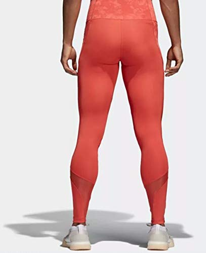 adidas Women's Climalite Ultimate High Rise Printed Long Tights, Trace Scarlet/Print, Small by adidas (Image #3)