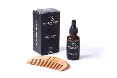 (Hombre Body Beard Oil and Comb Kit for Men)