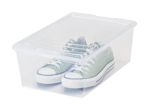 IRIS 13.5 Quart Modular Storage Box, 16 Pack, Clear