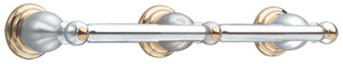 American Standard 8040.232.228 Prairie Field Double Toilet Paper Holder, Polished Chrome with Brass Accents ()