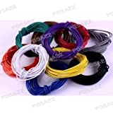 PGSA2Z Branded 20 meter Multistand wires for DIY Electronics Projects (4 colors 5 mts each),Red