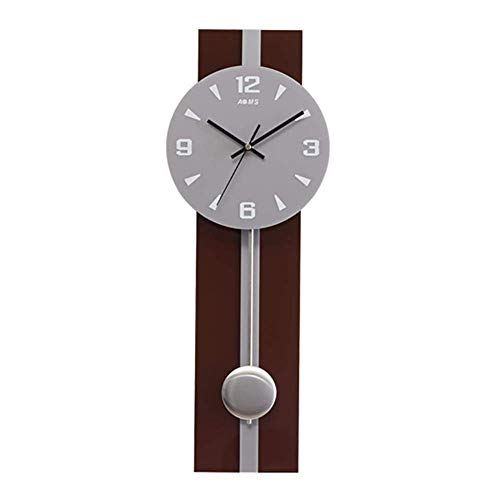 LIBINA Rectangular Wall Clocks Handmade Mute Pendulum Creative Modern Art Clock