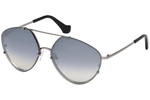 - Balenciaga Women's BA0085 Light Ruthenium Metal/Black Temple Tip/Gradient Smoke Lenses One Size