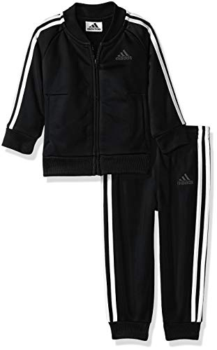 adidas Baby Boys Emboss Tricot Jogger Tracksuit 2-Piece Set